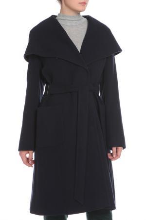 Пальто La Reine Blanche. Цвет: темно-синий