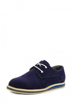 Ботинки oodji. Цвет: синий
