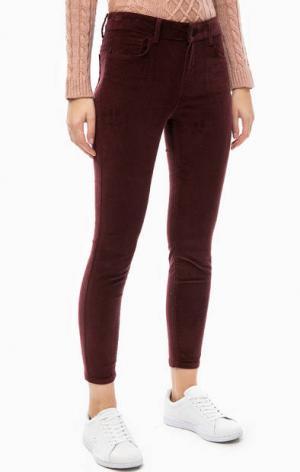Вельветовые брюки бордового цвета Mavi. Цвет: бордовый