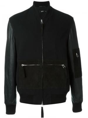 Куртка-бомбер с контрастными карманами Blood Brother. Цвет: чёрный