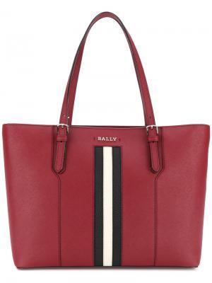 Большая сумка-тоут Supra Bally. Цвет: красный