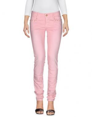 Джинсовые брюки CUSTO BARCELONA. Цвет: розовый