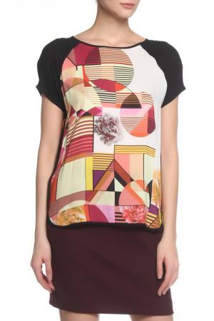 Блузка с коротким рукавом Caractere. Цвет: красный