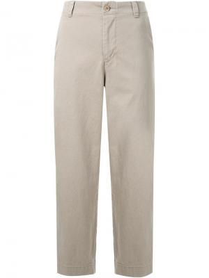 Укороченные брюки Fabiane Roux. Цвет: коричневый