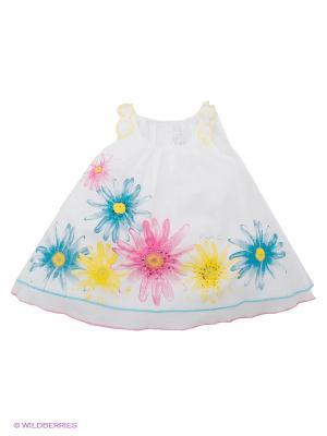 Платье Krytik. Цвет: белый, голубой, розовый