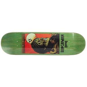 Дека для скейтборда  Bingaman Viscerous Pro Green 32 x 8.375 (21.3 см) Creature. Цвет: зеленый,оранжевый,черный