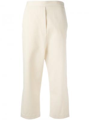 Укороченные широкие брюки Ellery. Цвет: телесный