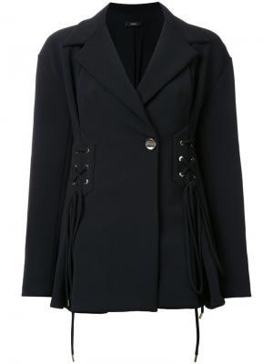 Пиджак со шнуровкой Ellery. Цвет: чёрный