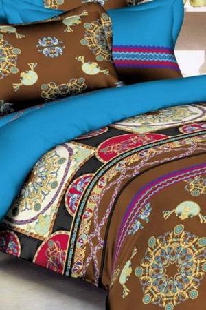 Постельное белье евро, 70x70 Французский стиль. Цвет: мультицвет