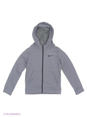 Толстовка DF TRAINING FLEECE HOODIE YTH Nike. Цвет: серый, серый меланж, серо-зеленый