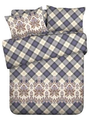 Комплект постельного белья 2.0 бязь Gloria Wenge. Цвет: фиолетовый, кремовый