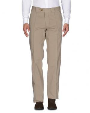 Повседневные брюки BARBA Napoli. Цвет: бежевый