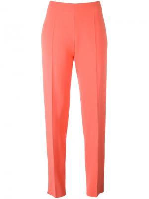 Прямые классические брюки Antonio Berardi. Цвет: жёлтый и оранжевый