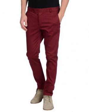 Повседневные брюки DAVID NAMAN. Цвет: красно-коричневый