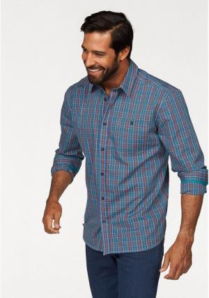 Рубашка MANS WORLD MAN'S. Цвет: синий/зеленый/оранжевый в клетку