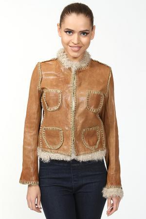 Куртка Benedetta Novi. Цвет: коричневый
