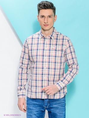 Рубашка PEPE JEANS LONDON. Цвет: розовый, синий, молочный