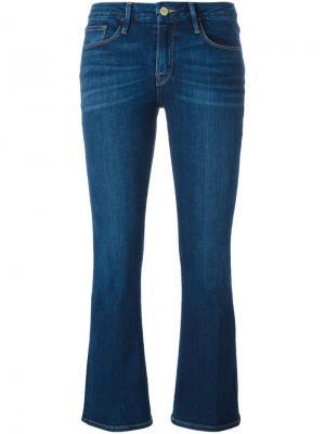 Слегка расклешенные джинсы Frame Denim. Цвет: синий