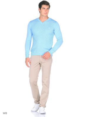 Пуловер Bilwelli. Цвет: голубой