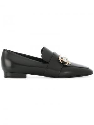 Crystal-embellished loafers Coliac. Цвет: чёрный