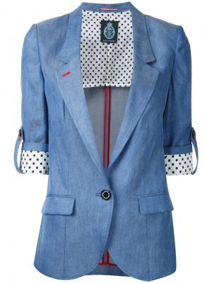 Приталенный пиджак Guild Prime. Цвет: синий