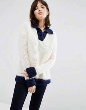 MiH Jeans Джемпер в морском стиле M.i.h. Цвет: кремовый