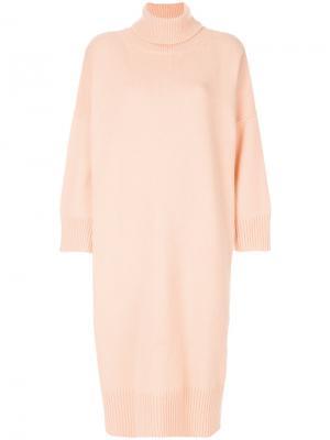 Платье с отворотом Ter Et Bantine. Цвет: телесный