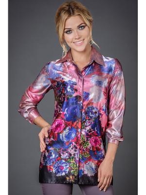 Блузка Арт-Деко. Цвет: розовый, малиновый, фиолетовый