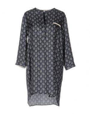 Короткое платье ANTONELLI. Цвет: темно-синий