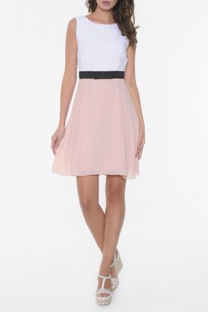 Платье Ki6. Цвет: бело-бежевый