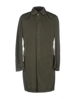 Легкое пальто HEVÒ. Цвет: зеленый-милитари