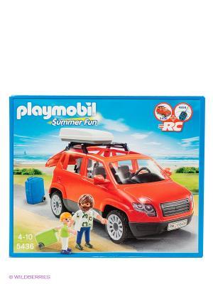 Игровой набор Семейный автомобиль Playmobil. Цвет: красный, зеленый, серый