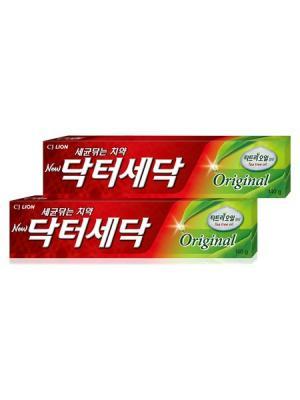 Зубная паста Dr. Sedoc с экстрактом масла чайного дерева, 140 гр х 2шт Cj Lion. Цвет: красный