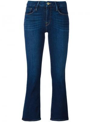 Укороченные джинсы Frame Denim. Цвет: синий