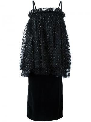 Платье с присборенной отделкой Isa Arfen. Цвет: чёрный