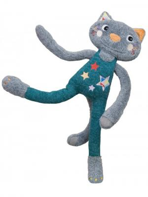 Мягкая игрушка-трансформер Кот Аскольд Ebulobo. Цвет: бирюзовый, серо-голубой