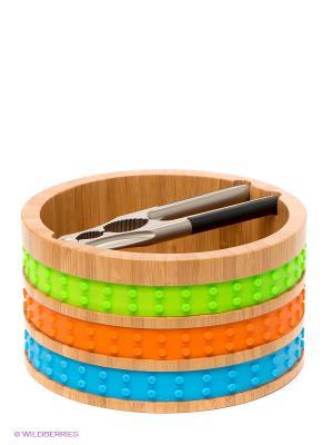 Миска для орехов Frybest. Цвет: бежевый, оранжевый, салатовый, голубой