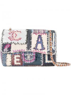 Лоскутная сумка на плечо Chanel Vintage. Цвет: многоцветный