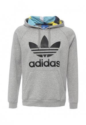 Худи adidas Originals. Цвет: серый