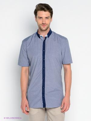 Рубашка Imperator. Цвет: синий, белый