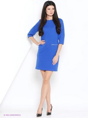 Платье PRIZZARO. Цвет: синий