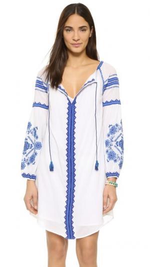 Платье Brigitte Love Sam. Цвет: белый/синий