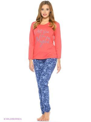 Комплект одежды-футболка, брюки NAGOTEX. Цвет: коралловый