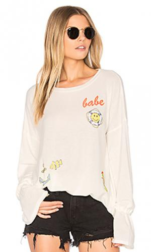 Пуловер maddie Lauren Moshi. Цвет: кремовый