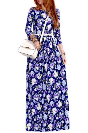 Платье FRANCESCA LUCINI. Цвет: снежно-голубой, цветы