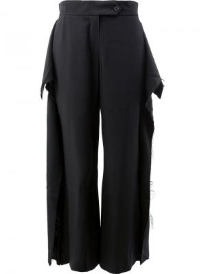 Широкие брюки Moohong. Цвет: чёрный