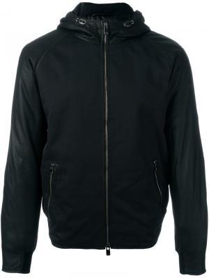 Куртка на молнии с капюшоном Drome. Цвет: чёрный