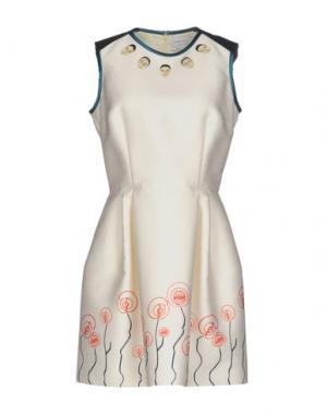 Короткое платье CATERINA GATTA. Цвет: слоновая кость