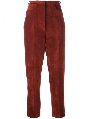 Вельветовые брюки Golden Goose Deluxe Brand. Цвет: коричневый