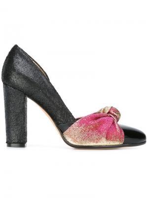 Туфли с узлом Jean-Michel Cazabat. Цвет: чёрный